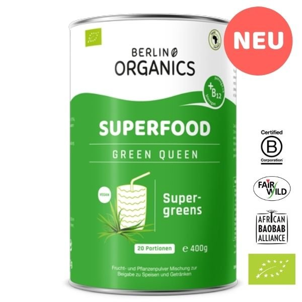 Green Queen Bio Superfood Pulver