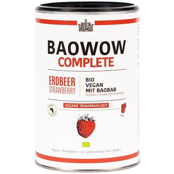 Bio Trinkmahlzeit Erdbeere Baobab Vegan