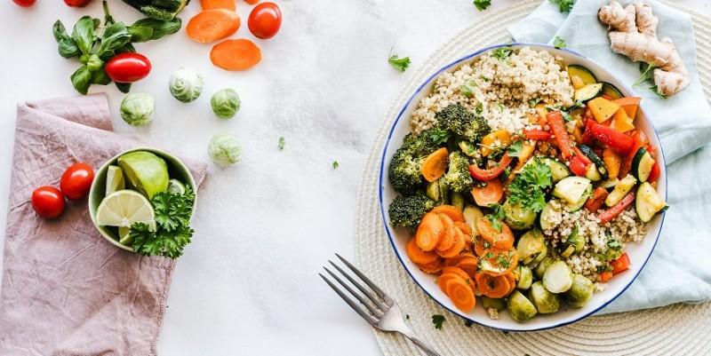 Vegetable Salat on Plante