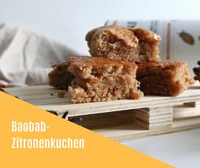 Rezept Zitronenkuchen mit Baobab