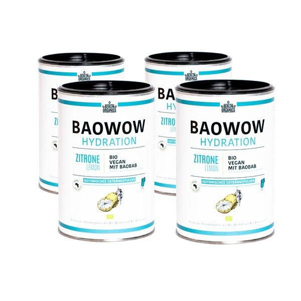 Berlin Organics Isotonisches Getränkepulver BAOWOW Hydration 4er Pack