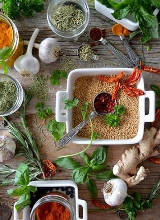 Spices and Herbs: Photo by Nadine Primeau on Unsplash