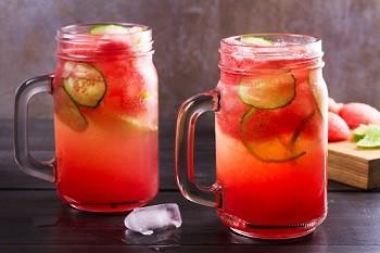 Wassermelone-Gurke-Smoothie